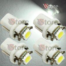 4 LED T5 B8.5D Per Cruscotto Quadro Strumenti SMD BIANCO Lampade Lampadine Luci