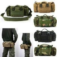 Hiking Military Tactical MOLLE Shoulder Bag Waist Pouch Pack Camping Bags UK