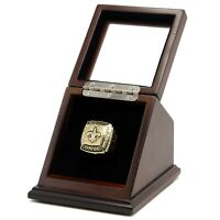Championship Ring Display Case 1 Slot Box Clear Stand Glass School Sport Fantasy