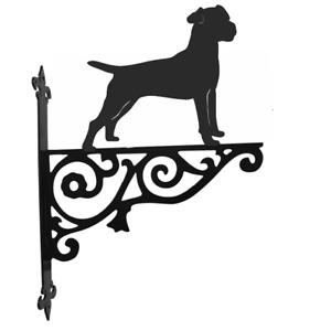 Patterdale Terrier Dog Metal Garden Ornamental Hanging Bracket