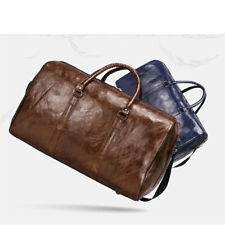Leather Travel Duffel Bag Handbag Crossbody Weekend Fitness Gym Bag MENS WOMENS