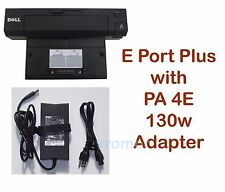 dell e-port plus replicator docking station usb 2.0 with pa-4e 130w adapter