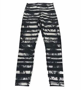 Lululemon High Times Pant Leggings Full On Luon Shady Palm White Black Size 4