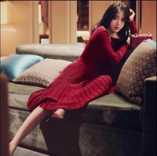 Hot Sexy V-neck Womens Long Sweater Dress Slim Fit Cardigan Clubwear Skirts Sexy