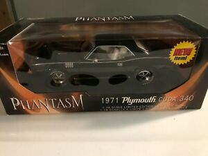 1/18 Ertl 1971 Plymouth Barracuda Cuda 349 Phantasm Movie Black #33406