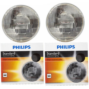 2 pc Philips High Low Beam Headlight Bulbs for Chevrolet Bel Air Blazer C10 dm
