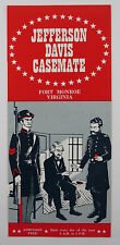 Vintage Travel Brochure Jefferson Davis Casemate Fort Monroe Virginia
