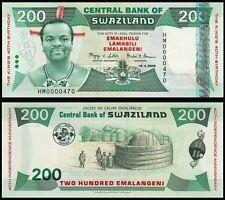 SWAZILAND 200 Emalangeni 2008 Commemorative - UNC - Pick 35