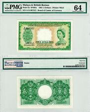 Malaya & British Borneo $5 P#2a (1953) PMG 64