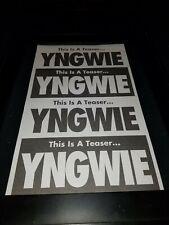 Yngwie Malmsteen Teaser Rare Original Radio Promo Poster Ad Framed!