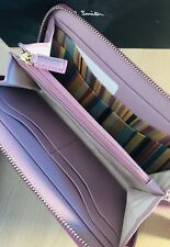 Paul Smith Women Wallet Large Zip Around With Box Made In Italy Pink