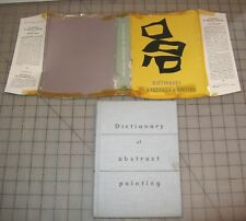 1957? DICTIONARY OF ABSTRACT PAINTING HC BOOK in Good- Condition Michel Seuphor