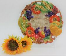 """New listing Retired Fitz & Floyd 'Autumn Bounty' Fall Thanksgiving 10"""" Serving Plate"""