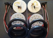 "(4) 19 LED Trux Dual Revolution 4"" Round Clear Lens Stop Tail Turn Back-Up Kit"