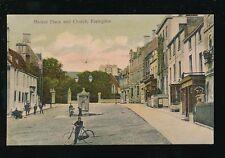 Berkshire Berks FARINGDON Market Place Church + locals posing 1907 PPC
