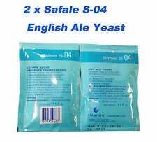 2 x Safale S04 English Ale Style Yeast Beer Making Homebrew Yeast