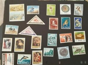 San Marino, nice lot of all different MNH stamps
