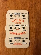 VINTAGE BASEBALL SEASON SCORE GAME COUNTER EXTREMELY RARE EARLY 1900'S