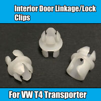 10x For VW T4 Transporter Interior Door Linkage Clips Lock Connector Rod Latch