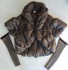 High Use down Daunen jacket with removable wool sleeves warmer