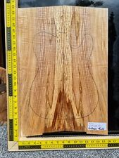 Flame Spalted Ash Bookmatched Set Guitar Making Luthier Wood Drop Top WOW