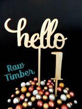 """hello"" CAKE TOPPER 1 2 3 4 5 6 7 8 9 10 20 SINGLE DOUBLE NUMBERS HAPPY BIRTHDAY"