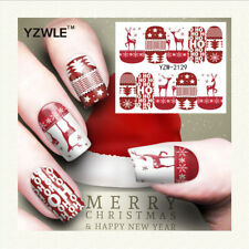 Christmas theme nail art watermark sticker red deer nail art accessories NT5