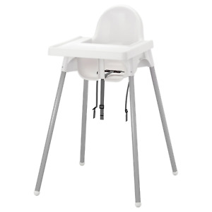 ANTILOP High chair with tray, silver color white, silver color NEW FREE SHIPPING