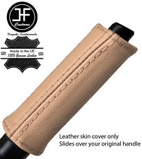 BEIGE REAL LEATHER HANDBRAKE HANDLE COVER FOR NISSAN 300ZX Z32 1989-1996