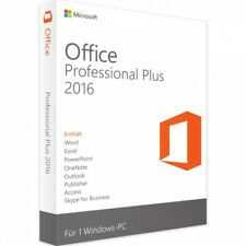 Microsoft Office 2016 Professional Plus Lizenz 5 PCs + GRATIS Installation DVD