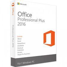 Microsoft Office 2016 Professional Plus Lizenz 5 PCs + GRATIS Installation DVD