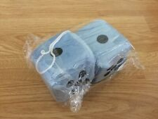 Fuzzy hanging car dice, lightweight, stuffed foam cubes