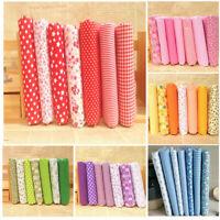 7 Pieces Assorted Fat Quarter Bundle Quilt Quilting Cotton Fabric Sewing DIY Set