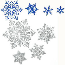 4XChristmas Snowflake Cutting Dies Stencil Scrapbooking Album Paper Card Diary
