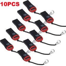 10pcs High Speed USB 2.0 SDHC Mini Micro SD T-Flash TF M2 Memory Card Reader Pro