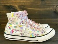 Converse All Star CHUCK TAYLOR YOUTH SIZE 3 & WOMENS SIZE 5 High Tops UNICORNS