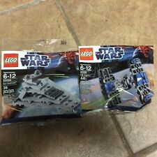 Lego Star Wars 8028 TIE Fighter 30056 Star Destroyer Mini Figs New Sealed 2012