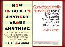2 Conversation books: How To Talk To Anyone & Conversationally Speaking