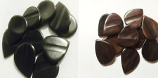 Genuine Ebony & RoseWd  Guitar Picks 50 pcs ea (100 pcs total) FREE S/H
