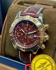 Breitling Chronomat Evolution C13356 Burgundy Dial SERVICED BY BREITLING
