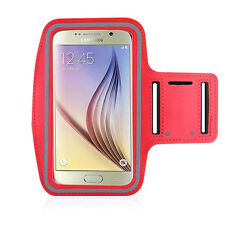 Running High Quality Adjustable Neoprene Armband Tie Samsung Galaxy S6 Red