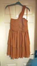 Dark orange one shoulder dress size 10 small  medium