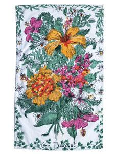 """KEY WEST HAND PRINTS Suzie Zuzek """"Key Bouquet"""" Floral Print Tea/Kitchen Towel"""