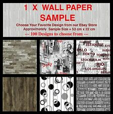 Wall Paper Sample - High Quality Textured Feature Embossed Wallpaper Samples DIY
