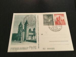 Luxemburg Briefmarken Karte Sonderstempel 1953 Echternach Basilika