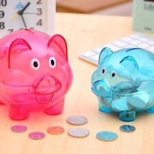 Bank Coin Money Plastic Pig Still Cash Safe Savings Toy Box