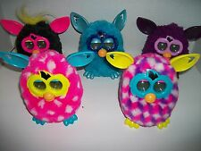 Five 2012 Furby/Furbies Purple Chex, Pink Pokadots, Punky Pink, Teal & Purple