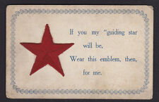 Embroidered-Red Star-Murphysboro-Villa Grove-Illinois-Antique Postcard