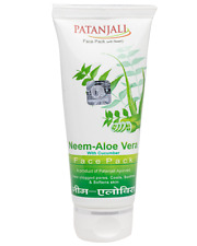 Patanjali Neem Aloe Vera with Cucumber Face pack 60gm each 100%herbal ayurvedic