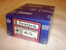 TWINQWIK WOOD AND CHIPBOARD SCREWS 4 X 3/4 BOX 200